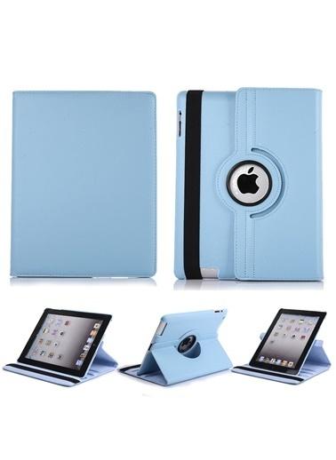 Techmaster iPad 8 Nesil 10.2 Kılıf 360º Standlı Ayarlanabilir Kılıf Turkuaz